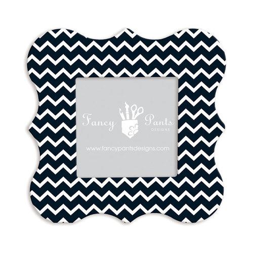 Fancy Pants Designs - 6 x 6 Frame - Bracket - Black and White Chevron