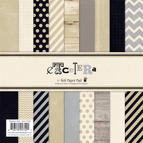 Fancy Pants Designs - Etcetera Collection - 6 x 6 Paper Pad