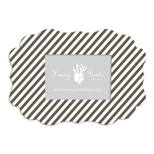 Fancy Pants Designs - 5 x 7 Frame - Scallop Bracket - Dark Chocolate Striped