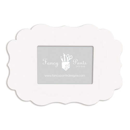 Fancy Pants Designs - 5 x 7 Frame - Scallop Bracket - Naked White