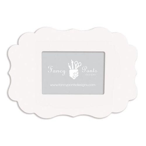 Fancy Pants Designs - 5 x 7 Frame - Scallop Bracket - Naked White