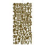Fancy Pants Designs - Rusted Sun Collection - Alphabet Cardstock Stickers - Brown, CLEARANCE