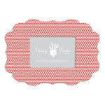 Fancy Pants Designs - 5 x 7 Frame - Scallop Bracket - Red Mini Chevron