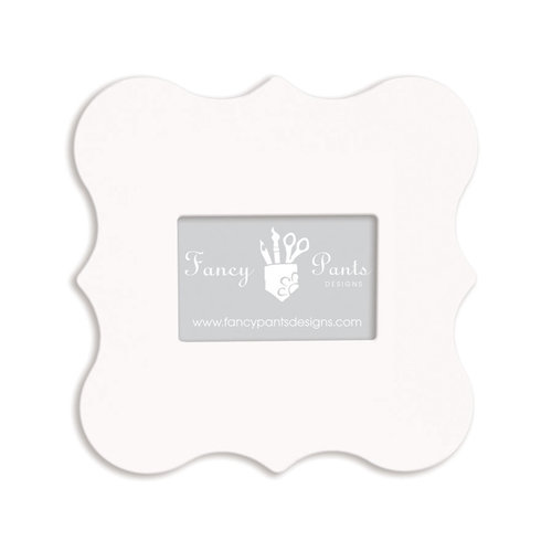 Fancy Pants Designs - 4 x 6 Frame - Opening Bracket - Naked White