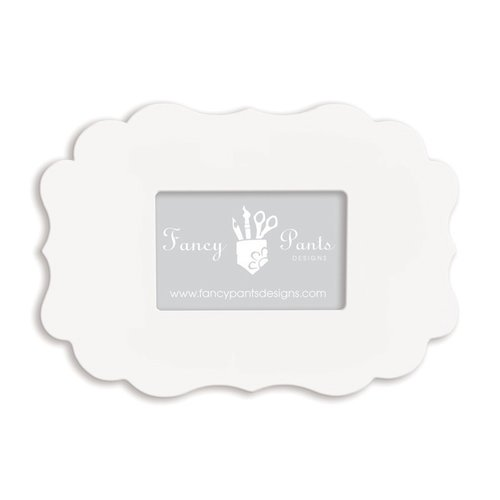 Fancy Pants Designs - 4 x 6 Frame - Scallop Bracket - Naked White