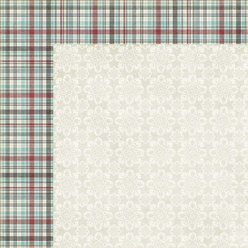 Fancy Pants Designs - Blissful Blizzard Collection - 12 x 12 Double Sided Paper - Tartan