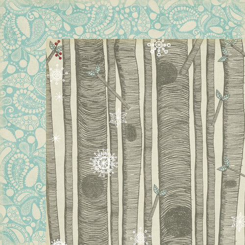 Fancy Pants Designs - Blissful Blizzard Collection - 12 x 12 Double Sided Paper - Woodsy
