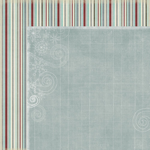 Fancy Pants Designs - Blissful Blizzard Collection - 12 x 12 Double Sided Paper - Icicles