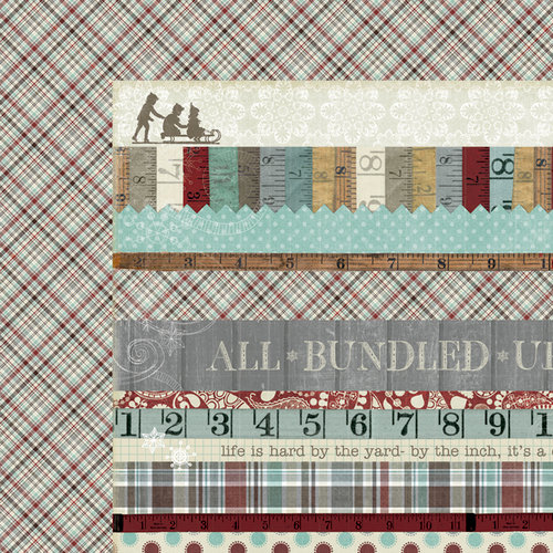 Fancy Pants Designs - Blissful Blizzard Collection - 12 x 12 Double Sided Paper - Strips