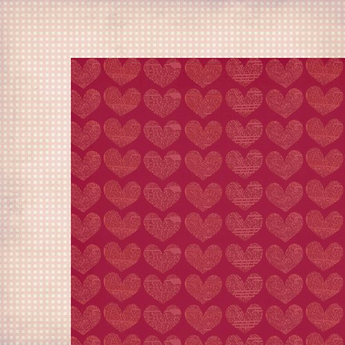 Fancy Pants Designs - Love Note Collection - 12 x 12 Double Sided Paper - S.W.A.K.