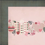 Fancy Pants Designs - Love Note Collection - 12 x 12 Double Sided Paper - Heartthrob