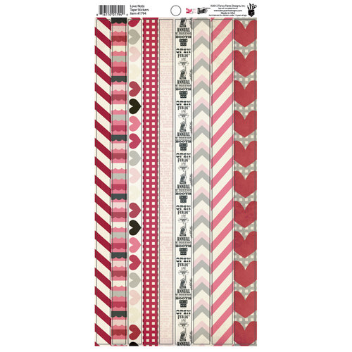 Fancy Pants Designs - Love Note Collection - Cardstock Stickers - Tape
