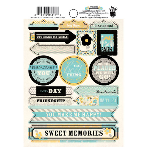 Fancy Pants Designs - Park Bench Collection - Cardstock Stickers - Labels