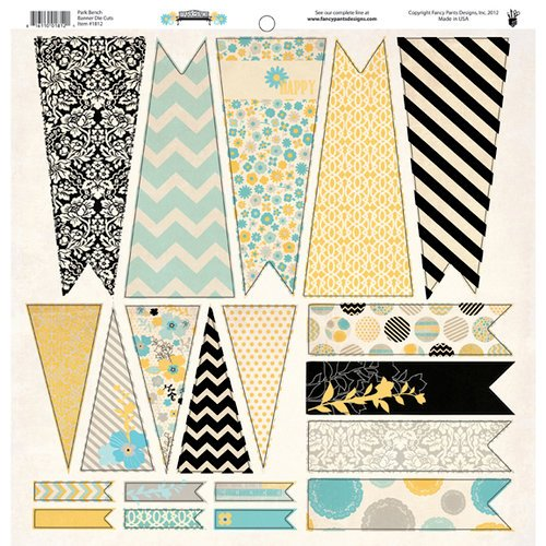 Fancy Pants Designs - Park Bench Collection - 12 x 12 Cardstock Die Cuts - Banner