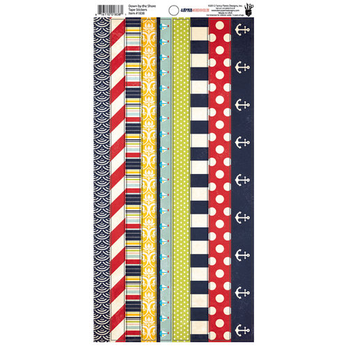 Fancy Pants Designs - Down by the Shore Collection - Cardstock Stickers - Tape