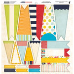 Fancy Pants Designs - Down by the Shore Collection - 12 x 12 Cardstock Die Cuts - Banner