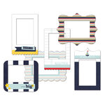 Fancy Pants Designs - Down by the Shore Collection - Patterned Photo Frames