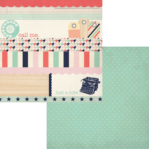Fancy Pants Designs - Trend Setter Collection - 12 x 12 Double Sided Paper - Strips