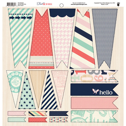 Fancy Pants Designs - Trend Setter Collection - 12 x 12 Cardstock Die Cuts - Banner