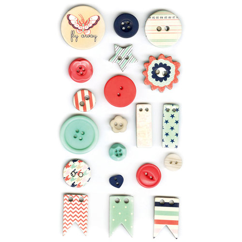 Fancy Pants Designs - Trend Setter Collection - Button Set