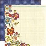 Fancy Pants Designs - Rusted Sun Collection - 12 x 12 Double Sided Paper - Petals in the Sand