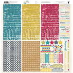 Fancy Pants Designs - Wonderful Day Collection - 12 x 12 Cardstock Stickers - Fundamentals