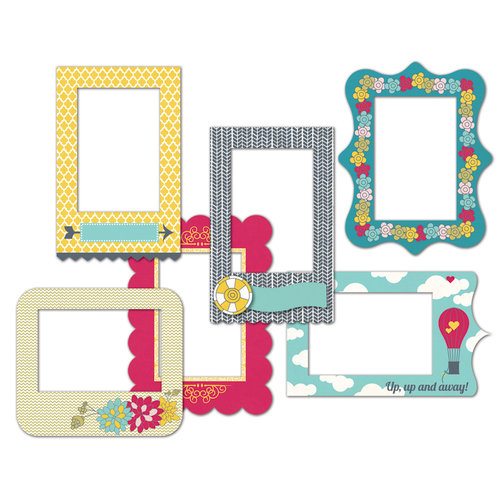 Fancy Pants Designs - Wonderful Day Collection - Patterned Photo Frames
