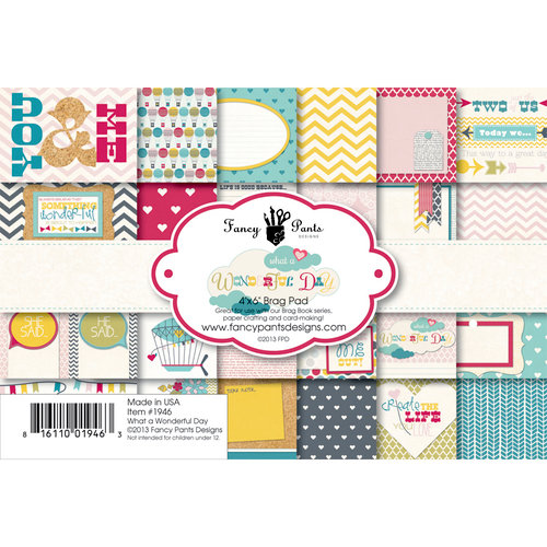 Fancy Pants Designs - Wonderful Day Collection - 4 x 6 Brag Pad