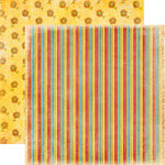 Fancy Pants Designs - Rusted Sun Collection - 12 x 12 Double Sided Paper - Umbrella