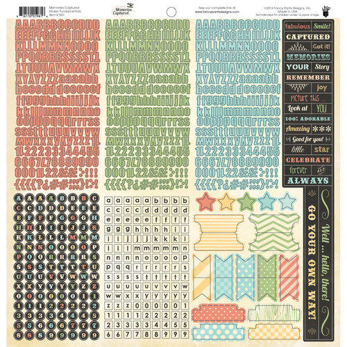 Fancy Pants Designs - Memories Captured Collection - 12 x 12 Cardstock Stickers - Fundamentals