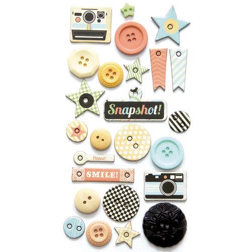 Fancy Pants Designs - Memories Captured Collection - Button Set