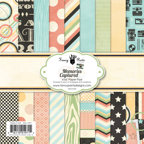 Fancy Pants Designs - Memories Captured Collection - 6 x 6 Paper Pad