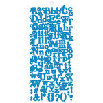 Fancy Pants Designs - About a Girl Collection - Alphabet Cardstock Stickers - Blue, CLEARANCE