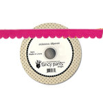 Fancy Pants Designs - About a Girl Collection - Pink Velvet Trim - 25 Yards