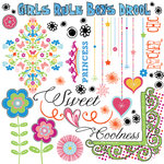 Fancy Pants Designs - About a Girl Collection - Rub Ons, CLEARANCE