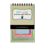 Fancy Pants Designs - About a Girl Collection - 5 x 8 Notebook Journal