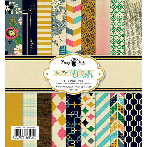 Fancy Pants Designs - As You Wish Collection - 6 x 6 Paper Pad