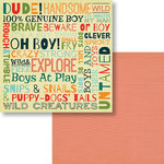 Fancy Pants Designs - Be Different Collection - 12 x 12 Double Sided Paper - Oh Boy