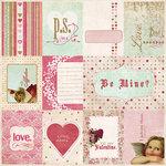 Fancy Pants Designs - Vintage Valentine Collection - 12 x 12 Kraft Paper - Valentine Cards , CLEARANCE