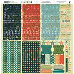 Fancy Pants Designs - Be Different Collection - 12 x 12 Cardstock Stickers - Fundamentals