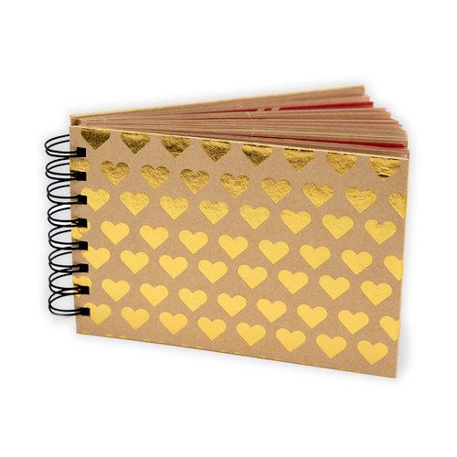 Fancy Pants Designs - Artist Edition Collection - Mini Brag Book - Foil Gold Hearts