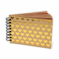 Fancy Pants Designs - Artist Edition Collection - Mini Brag Book - Foil Gold Hearts