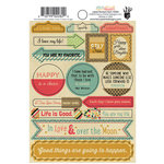 Fancy Pants Designs - Burlap and Bouquets Collection - Cardstock Stickers - Labels