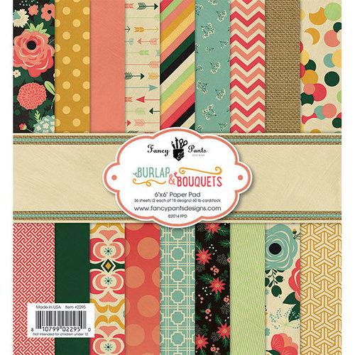 Fancy Pants Designs - Burlap and Bouquets Collection - 6 x 6 Paper Pad