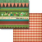 Fancy Pants Designs - Everyday Circus Collection - 12 x 12 Double Sided Paper - Circus Strips