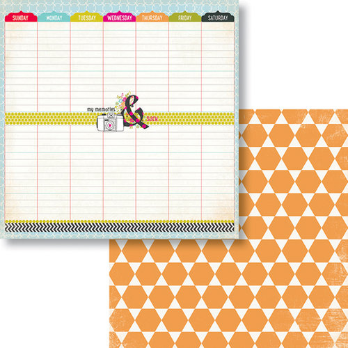 Fancy Pants Designs - Me-ology Collection - 12 x 12 Double Sided Paper - This Year