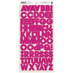 Fancy Pants Designs - Me-ology Collection - Cardstock Stickers - Alphabet - Hot Pink