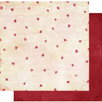 Fancy Pants Designs - Vintage Valentine Collection - 12 x 12 Double Sided Paper - Love Sincere , BRAND NEW