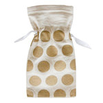 Fancy Pants Designs - Canvas Bag - Gold Dots