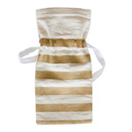 Fancy Pants Designs - Canvas Bag - Gold Stripes